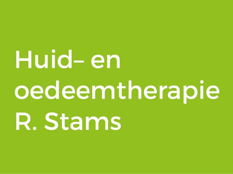 Huid– en oedeemtherapie R. Stams